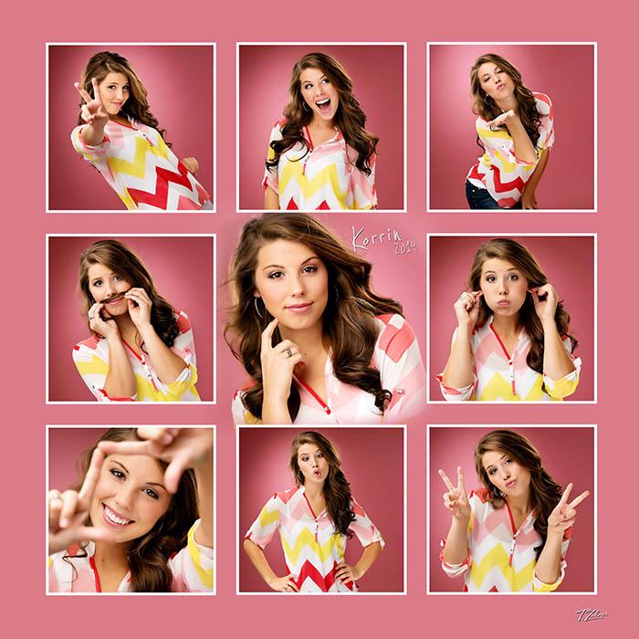 tilley 16x16 9 pose collage pink