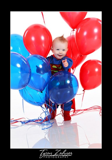 Zane REALLY REALLY loves balloons!